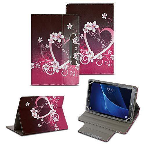 NAUC Tablet Schutzhülle kompatibel für Samsung Galaxy Tab A6 10.1 Universal Tasche hochwertiges Kunstleder Tasche Hülle Standfunktion Cover 10.1 Zoll Hülle, Farben:Motiv 2