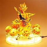 Dragon Ball Z Son Goku Led Lámpara De Luz Espíritu Bomba Figuras Anime Dragon Ball Z Goku Super Saiyan Decoración Luz De La Noche Regalos Creativos