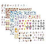 KADS 19pcs/Set Cute Owls&Dolphins Design Transfer Nail Art Stickers Water Nail Art Decals for Nail Decoration Tools