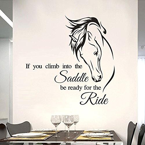 Removable Wall Sticker Clearance Sale, Libermall Vinyl Mural Horse Saying Quotes Wall Stickers Home Room Art Decor Wall Windows Mural Decal Sticker, Best for Living Room Home Decor Wall Decals (A)