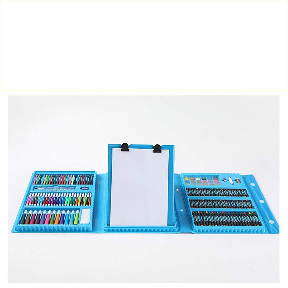 Liuxiaomiao Conjunto de Arte Infantil Set de artesanía para niños, de 176 Piezas, en Estuche portátil, bolígrafos, lápices, Pinturas, Pasteles, crayones. Día de los niños cumpleaños: Amazon.es: Hogar