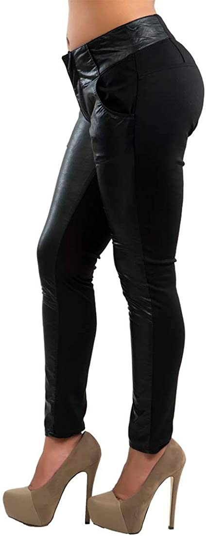 Poetic Justice Max 47% OFF Curvy Women Black Pon Vegan Topics on TV Leather Stretch Rayon