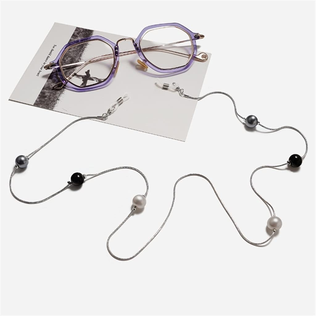EEKLSJ Bohemia Three-Color Imitation Pearl Cords Reading Glasses Chain Women Sunglasses Accessories Lanyard Hold Straps (Color : B, Size : Length-70CM)