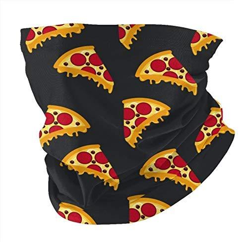 Patrón de comida rápida pizza, cuello negro, máscara de protección solar UV, bufanda para la cabeza, para correr, ciclismo, motociclismo