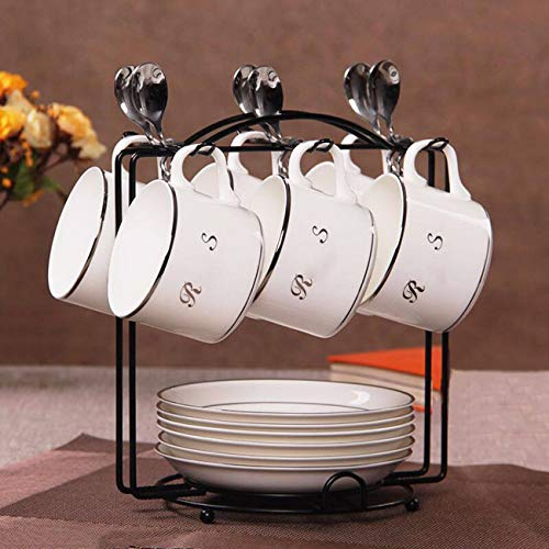 Tasse à café La Maison des Céramiques De Style Européen Mis en 6 Morceaux D'Os Chine Café Soucoupe Afternoon Tea Cup B