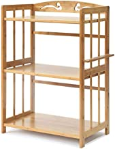 Multifunctional Kitchen Storage Rack Storage Shelf Kitchen Shelves Pot Rack Microwave Shelf Oven Utensils Frame 3-Tier Lay...