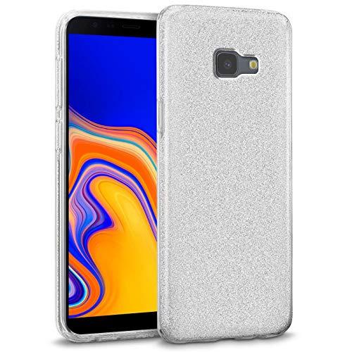 Verco - Cover per Samsung Galaxy J6 Plus, in silicone TPU, colore: Argento