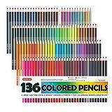 Shuttle Art 136 Bút chì màu, Bộ bút chì tô màu lõi mềm ...