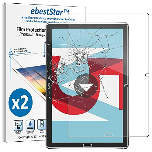ebestStar - Pack x2 Verre trempé Compatible avec Huawei MediaPad M5 10.8 Film Protection Ecran Vitre Protecteur Anti Casse, Anti-Rayure, Pose sans Bulles [Tab: 258.7 x 171.8 x 7.3mm, 10.8'']