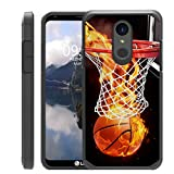 Untouchble  Compatible with LG Stylo 4, LG Q Stylus (2018) Cover [Shock Bumper Case] Combat Shockproof Two Layer Cover - Basketball Fire