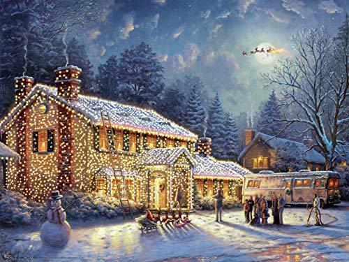 Ceaco Thomas Kinkade Holiday Movies National Lampoons Xmas Vacation Jigsaw Puzzles, 300 Pieces