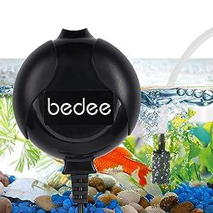 bedee Air Pump, Aquarium Air Pump Fish Tank Air Pump Oxygen Supply Silent Mini 1W 0.45L/Min with Tubing Air Pump…
