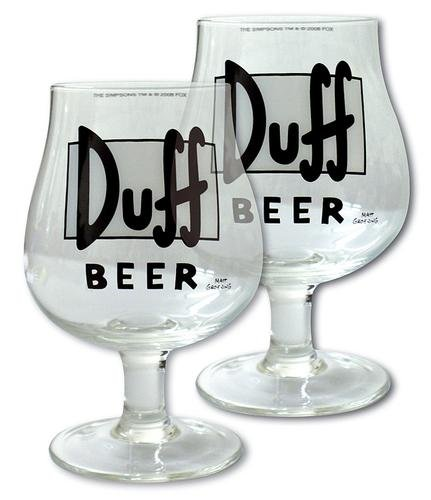 The Simpsons Biergläser Duff Beer - 2er Set, Inhalt: 330ml