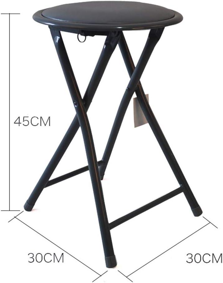 Ménage Étape se pliante occasionnelle, parenthèse en métal de tabouret se pliant rond de salle de réunion salle de formation petit tabouret petite chaise Tabouret (Color : A) B