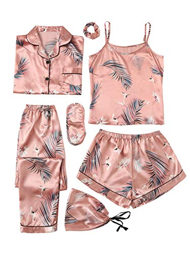SheIn Women's 7pcs Pajama Set Ca...