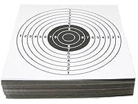 PLOTONE たっぷり100枚 厚紙 ペーパー ターゲット エアガン ガスガン 射撃の練習に (白)