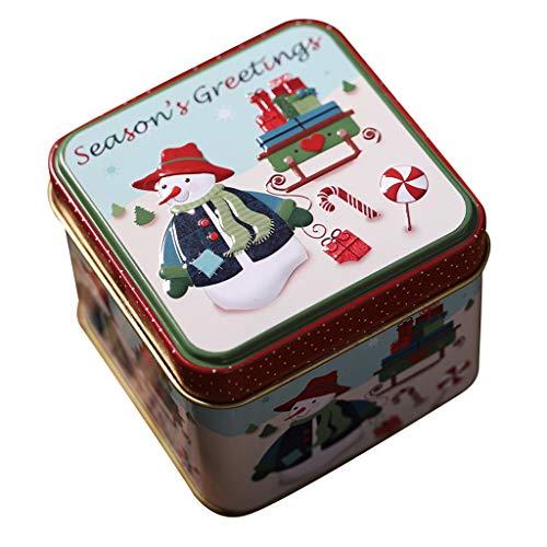Dasongff Kerstmis snoep ronde opbergdoos kerstboomversiering kerstcadeaubox voor snoepjes chocolade 1 Pc C