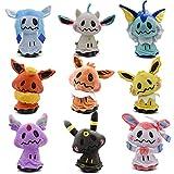 Pocket Monster Mimikyu Cosplay Eevee Plush Dolls Animal Stuffed Plush Toys 8 in (Set of 9pcs)