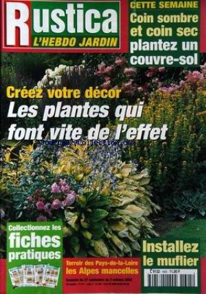 RUSTICA [No 1605] du 27/09/2000 - CREEZ VOTRE DECOR - TERROIS DES PAYS-DE-LA-LOIRE - LES ALPES MANCELLES - LE MUFLIER.