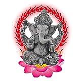 Resina Ganesh hidu Elefante Estatua Elefante Buda Figura Dios del éxito Ornamento Decorativo para Coche de Oficina en casa,f