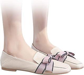 [Star] レディース フラットシューズ 春 オフィス バブーシュ パンプス ローヒール 痛くない 太ヒール 靴 歩きやすい