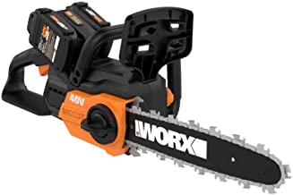 "WORX WG381 12"" Cordless Power Share 40V w/Auto Tension Chain Saw, Black and Orange"