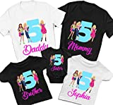 Family Personalized Birthday Shirt for Barbie Squad Birthday Theme