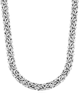 Best chunky silver chain necklace womens Reviews