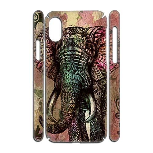 Gogh Yeah Caja del Teléfono Plástico Dropproof para Los Hombres Usar como Samsung A70 Impresión Colorful Elephant Drawing 2 Choose Design 53-4