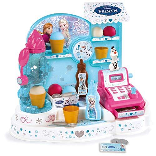 Tienda con máquina de helados de hielo Diferentes tipos de helados, helados Mecánica caja registradora con dinero de juego Medidas del producto (LxBxH): 44,5x 26,6x 35cm A partir de 3años