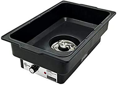 """Thaweesuk Shop New Water Pan Electric Black Polypropylene Commercial Restaurant Heavy Duty.22""""Lx 14""""W x 6""""H of Set"""