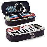 XCNGG Gov 't Mule Estuche para bolígrafos con cremallera Estuche para lápices de cuero a la moda...