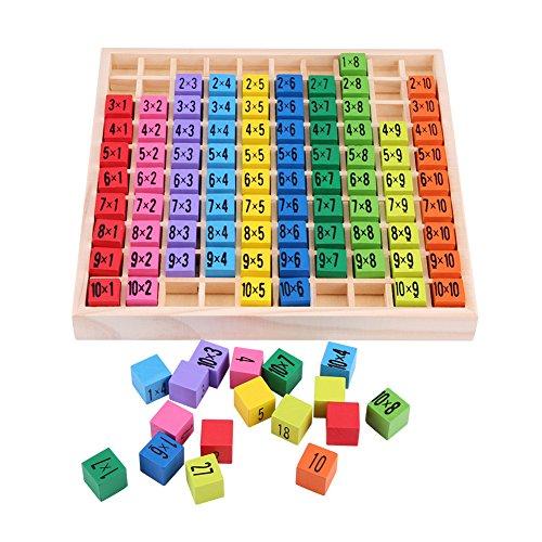 Hztyyier Baby Multiplikationstabelle, Rechenbrett Montessori, Mathematik Multiplikationstabelle Holzspielzeug Puzzle für Kinder