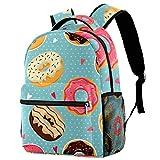 Mochilas escolares de 40,64 cm, bolsa de viaje básica, bolsa para portátil – Lindo donuts colorido