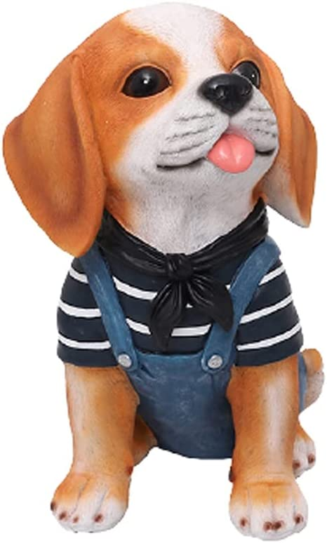 WQXD Creativity Resin Dog Piggy Money Coin Milwaukee Mall Sav Bank outlet Cartoon