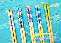 ヤエックス 水族館 海のなかま お箸 (22.5cm) 食器 プレゼント 全5種 キッズ はし 箸 (5種類1セット)