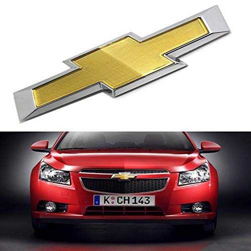 bearfire 2011-2014 Chevy Cruze Front Bumper Emblem Gold Chrome Grille Badge Grill Sign Symbol Logo