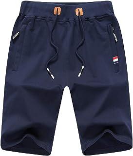 ZOXOZ Mens Gym Shorts Summer Casual Sports Shorts Zip Pockets