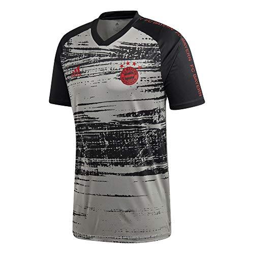 adidas Herren FC Bayern Prematch Funktionsshirt grau L