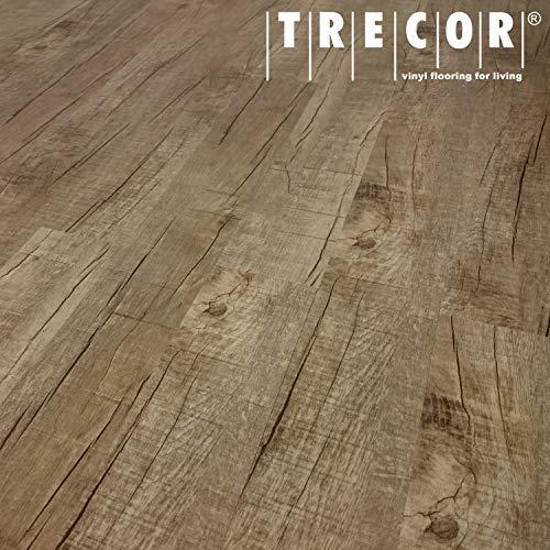 TRECOR® Vinylboden Klick RIGID 4.2 Massivdiele - 4,2 m stark mit 0,30 mm Nutzschicht - Sie kaufen 1 m² - WASSERFEST (Vinylboden | 1 qm, Eiche Old Rustik)