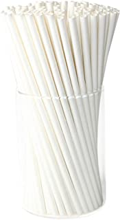 Paper Drink Straws Biodegradable White - Value Pack 100 Pcs Eco-frendly Straws Bulk for Party Supplies | Birthday | Wedding | Bridal | Baby Shower | DIY
