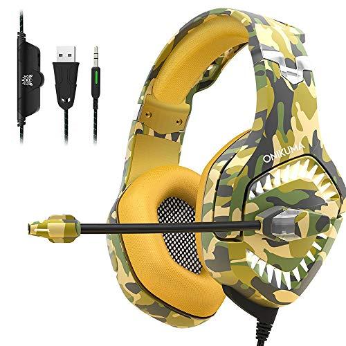 Yangmanini Bajo Estéreo Surround Gaming Headset De Auriculares con Cable con El Micrófono, Conveniente For For PS4, Luminoso Auriculares Auriculares Auriculares con Cable De Ordenador (Color : A)