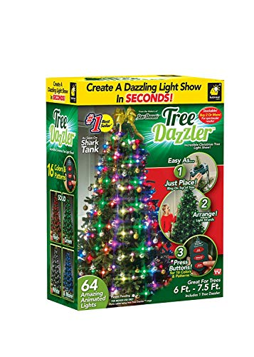 Star Shower Tree Dazzler LED Christmas Lights by BulbHead, Color...