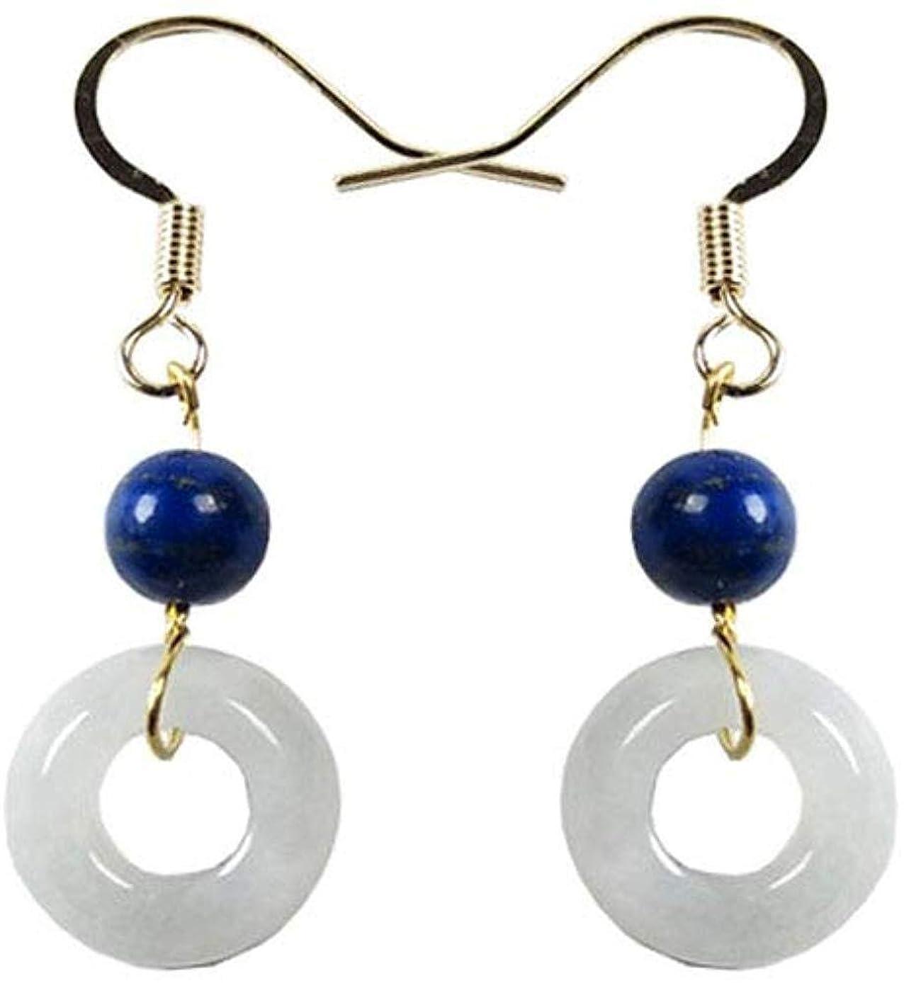 ずるい鏡ソフィー天然玉 ジェイドのペンダント自然なヒスイのペンダントイヤリングの耳のワイヤーのヒスイのイヤリングは、長いイヤリングの宝石類イヤリングエメラルド