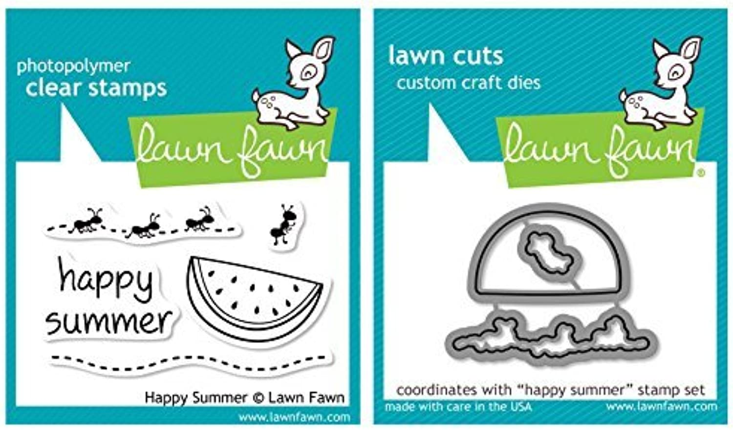 Lawn Fawn - Happy Summer - Clear Stamp and Die Set by Lawn Fawn B01KBAZ1XE | Offizielle Webseite