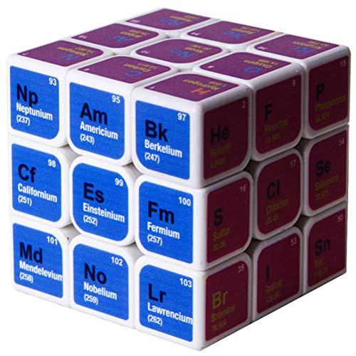 Yissma Tabla periódica de Elementos Cubo Cubo químico de Tercer Orden |Magic Classic Cubo de resolución de Problemas Juguetes educativos Juego de Rompecabezas