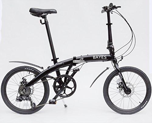 'Aluminio Bicicleta plegable 20Bicicleta plegable 8velocidades Shimano frenos de disco negro mate