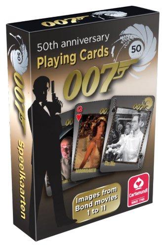 Cartamundi - 100019928 - Jeu de Société - James Bond - 50ème Anniversaire - 55 Cartes