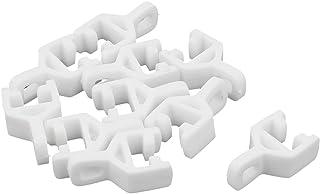 Sourcingmap Color Blanco 12 Unidades Rodillos deslizantes de pl/ástico para Cortina 20 mm