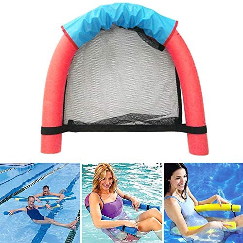 paomo Silla flotante de natación, malla de fideos suave, juguete de deportes acuáticos, cómoda tumbona de buceo para piscina, fiesta de mar, herramienta de aprendizaje para niños y adultos